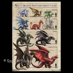 Dragon Size Chart 3D Picture By Anne Stokes